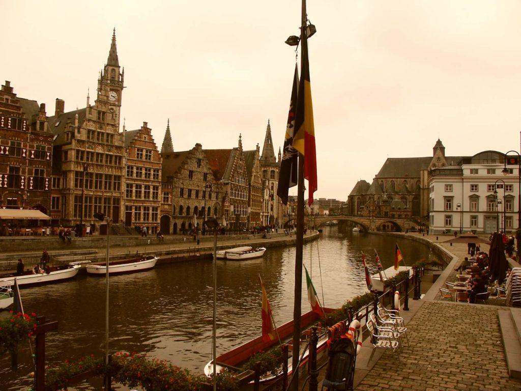 Die mittelalterliche Stadt Gent an der Leie