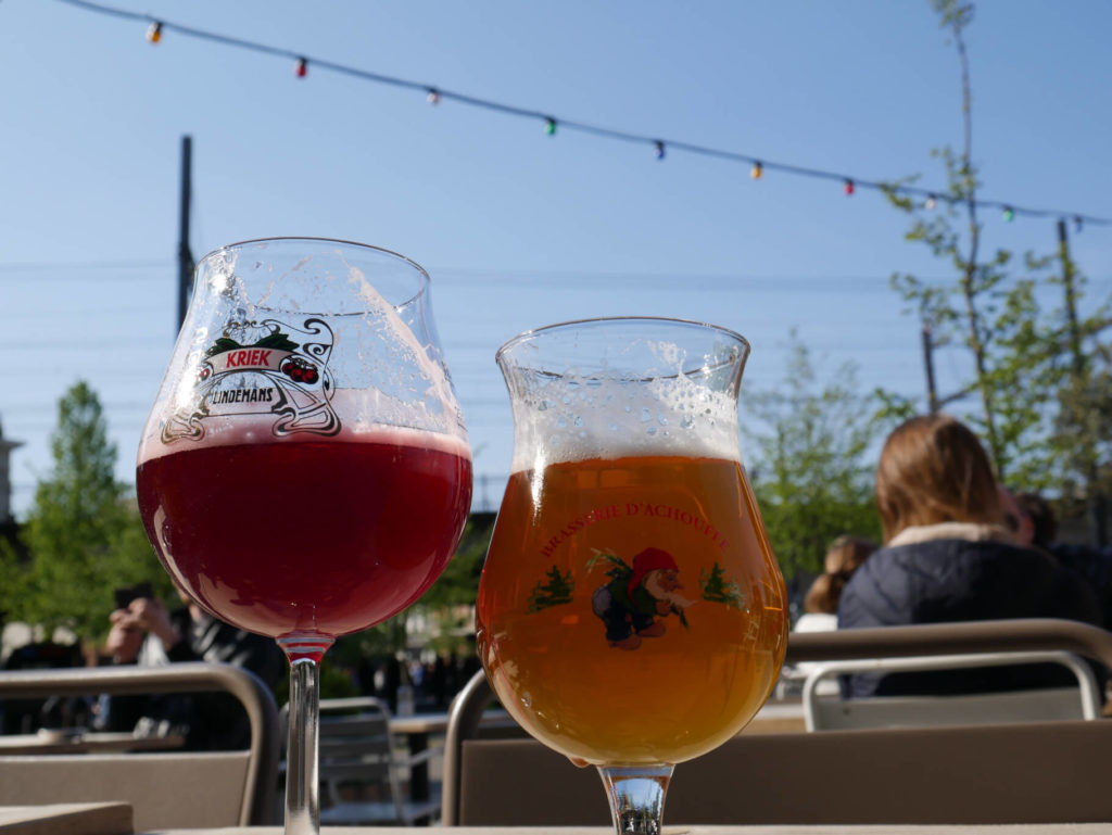 Kriek und La Chouffe Bier